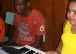 Laboratorio di musica Istituto dei Ciechi della Bahia Brasile